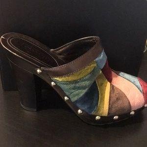 coach patch clog heels